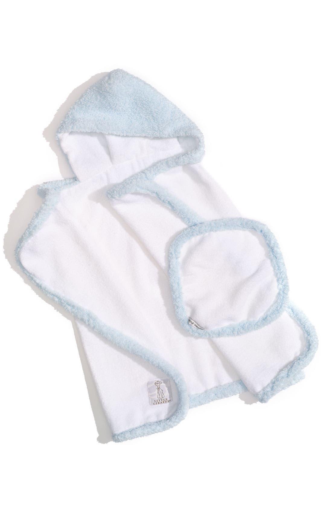 Alternate Image 1 Selected - Little Giraffe Towel & Washcloth Set (Infant & Toddler)