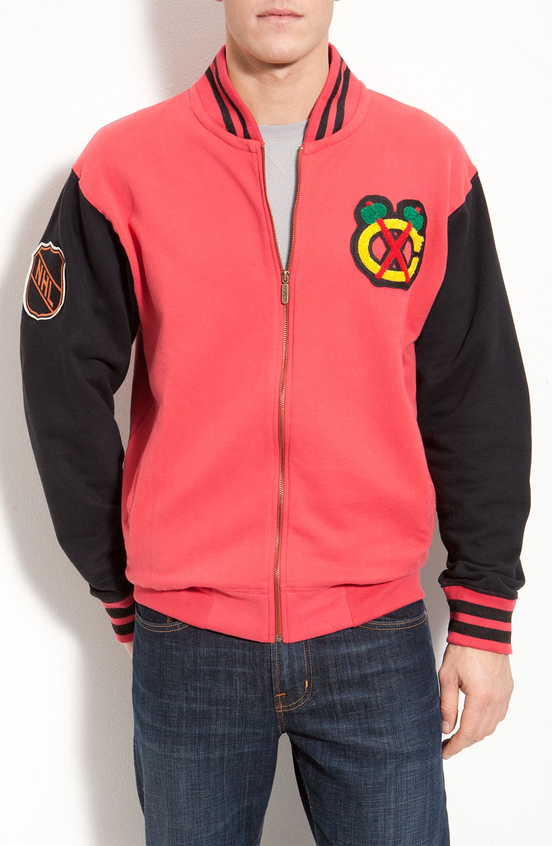 Alternate Image 1 Selected - Red Jacket 'Homeroom Blackhawks' Jacket