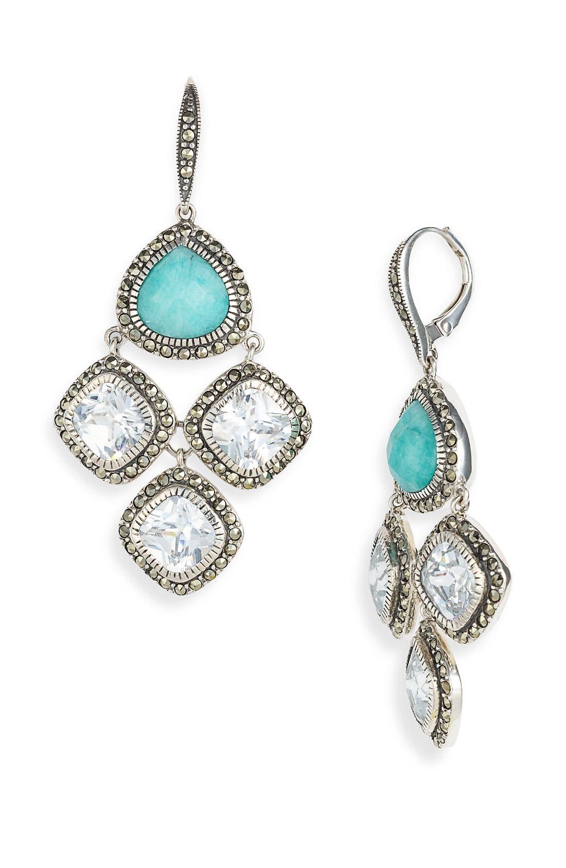 Alternate Image 1 Selected - Judith Jack 'Aquarius' Chandelier Earrings
