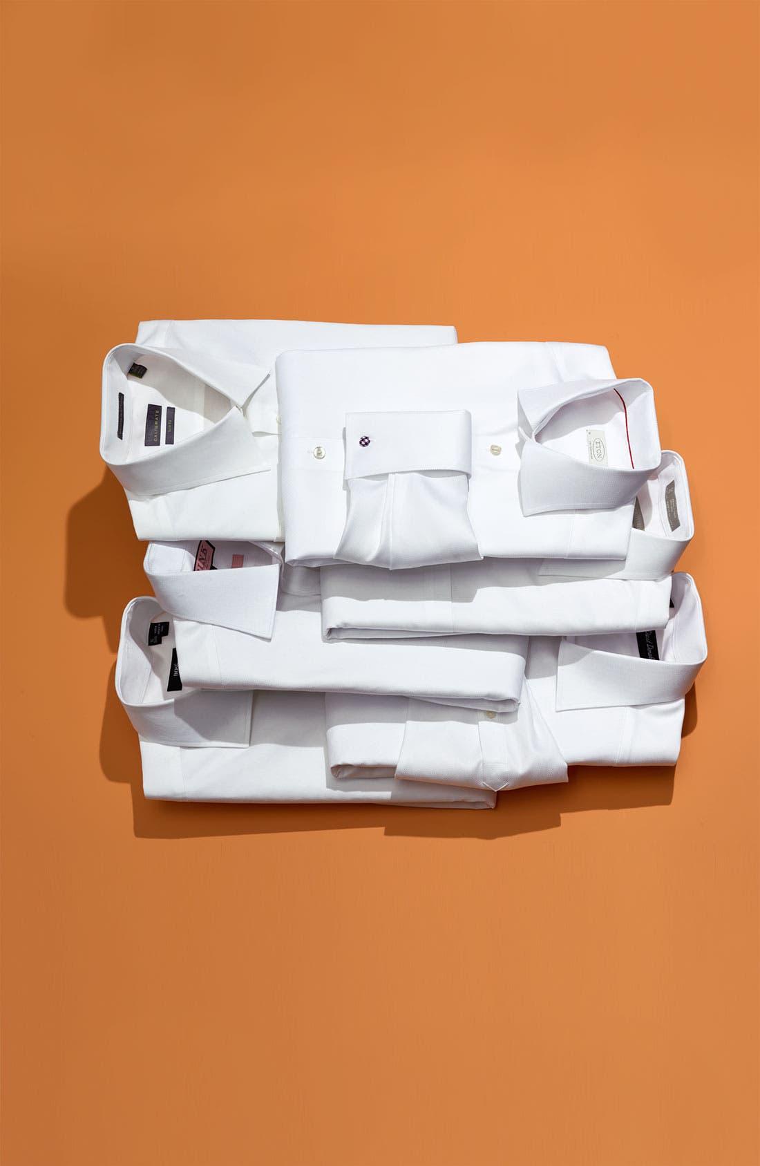 Alternate Image 14  - Nordstrom Men's Shop Smartcare™ Wrinkle Free Traditional Fit Herringbone Dress Shirt