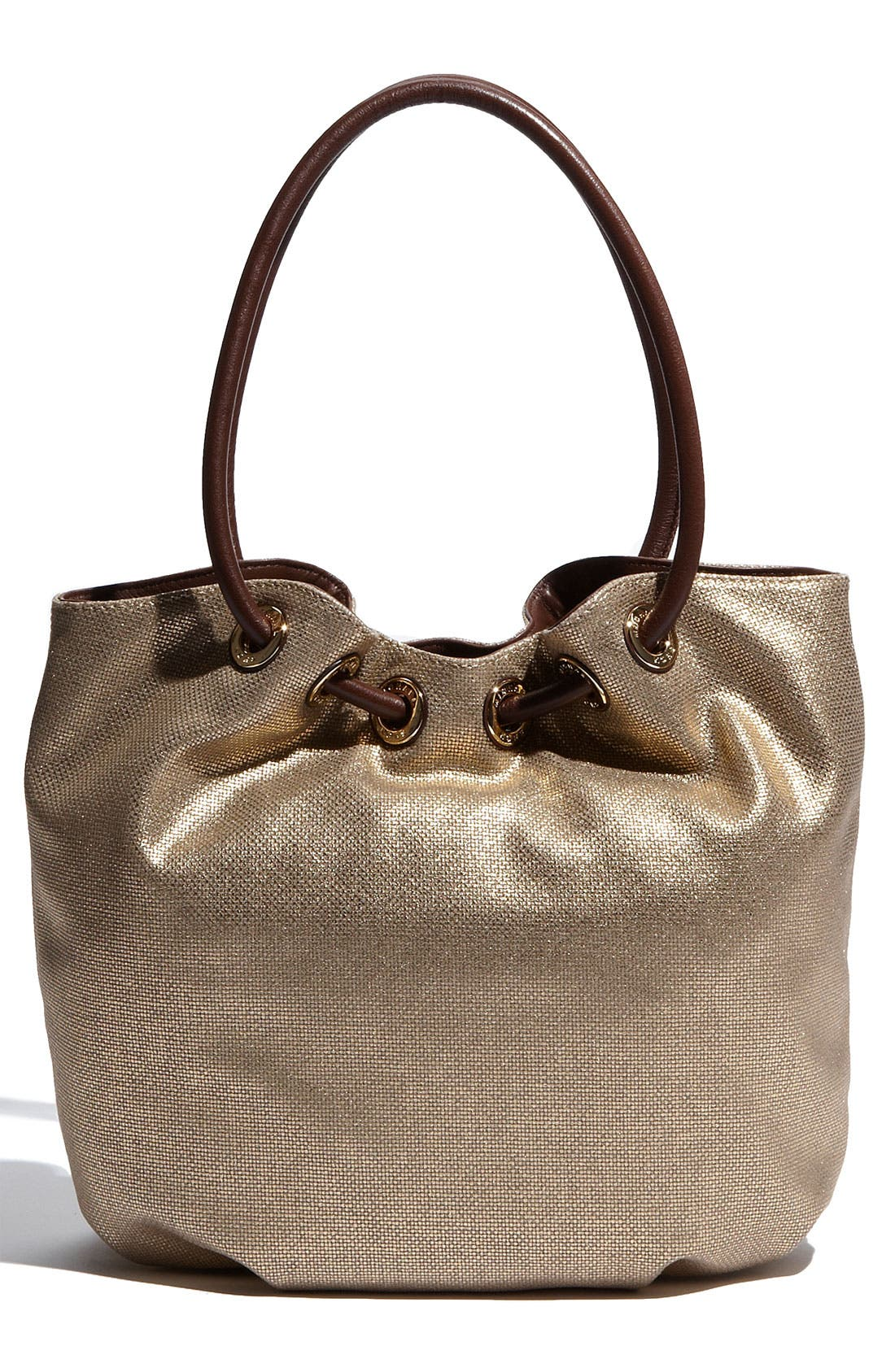 Alternate Image 4  - MICHAEL Michael Kors 'Ring' Metallic Canvas Tote