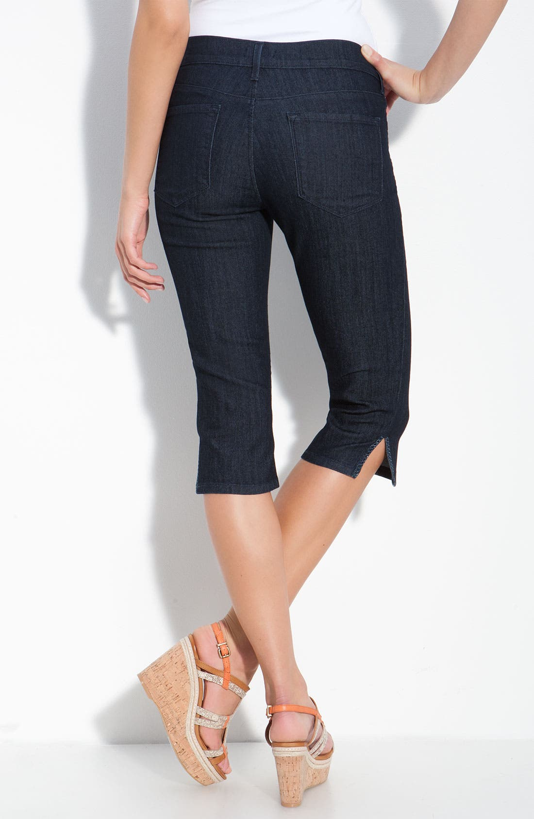 Alternate Image 2  - NYDJ 'Joan' Embellished Crop Stretch Jeans