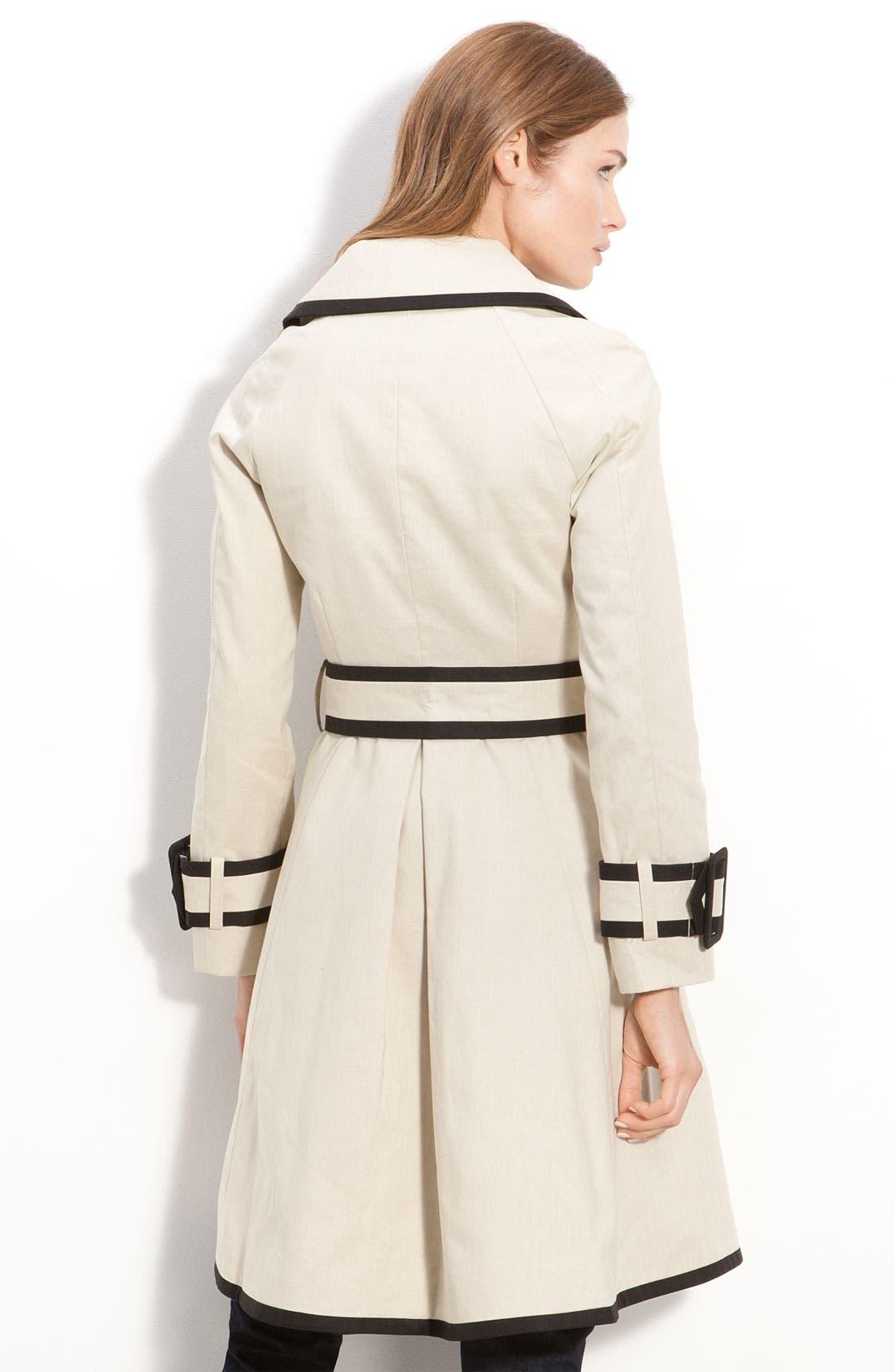 Alternate Image 3  - kate spade new york 'topliner' contrast trim trench coat