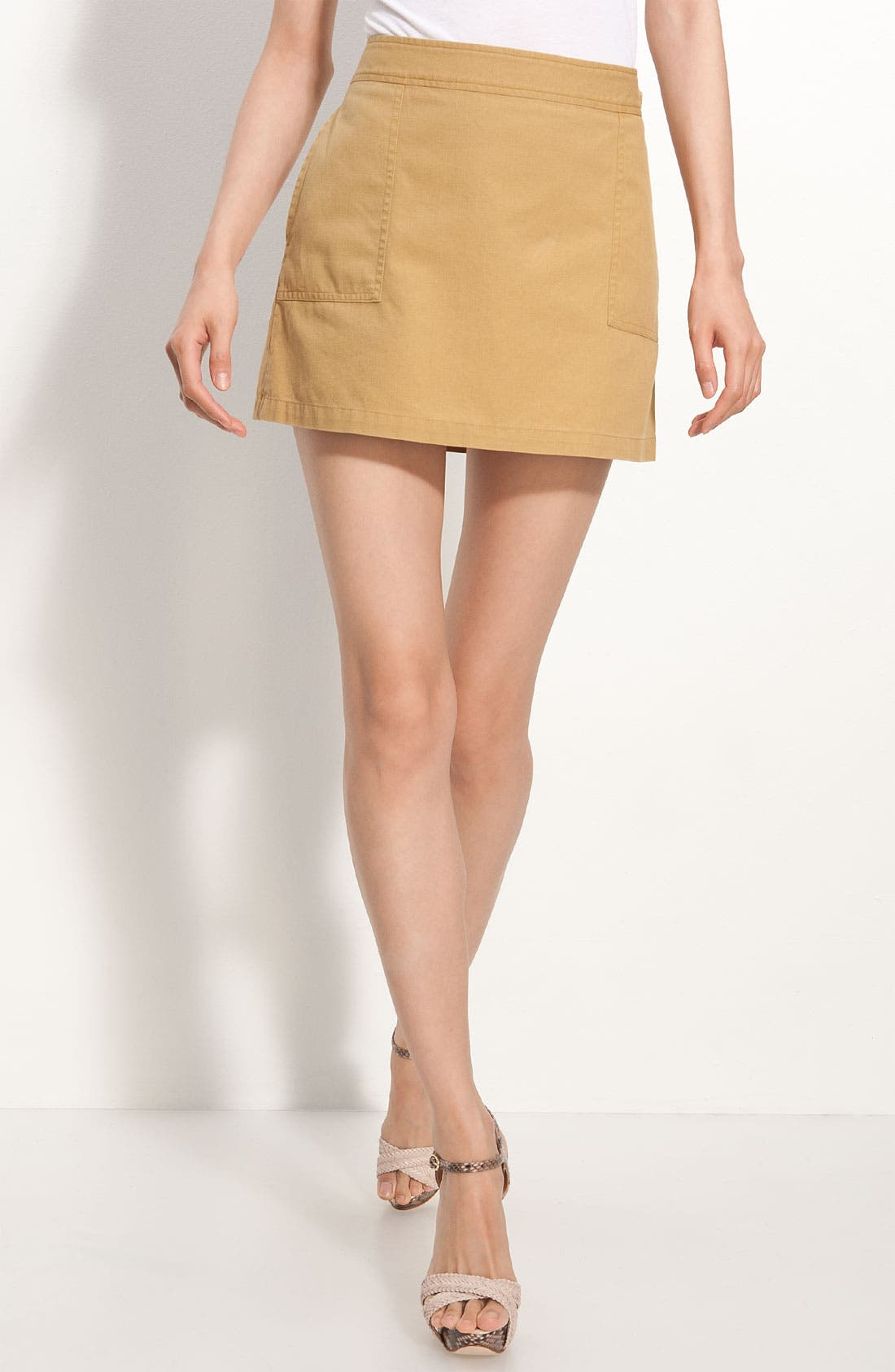 Alternate Image 1 Selected - A.P.C. Cotton Miniskirt