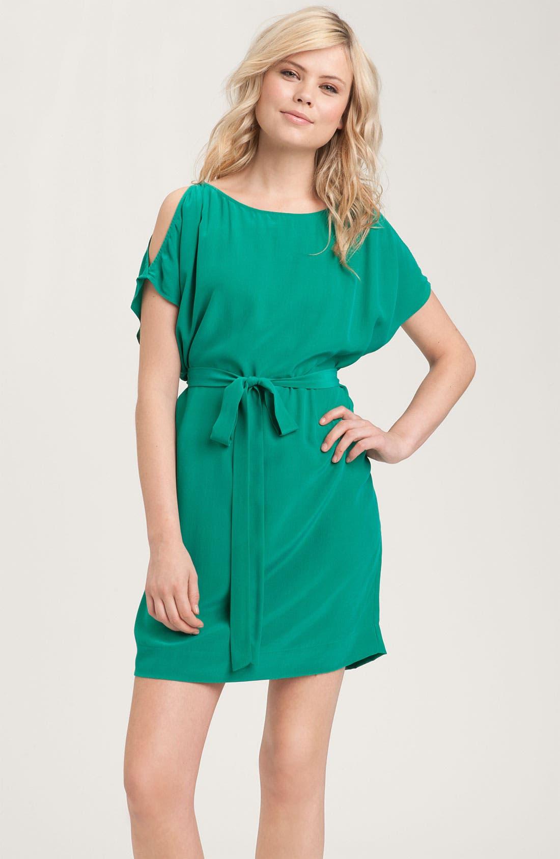 Main Image - Joie 'Agata' Split Shoulder Dolman Sleeve Silk Dress