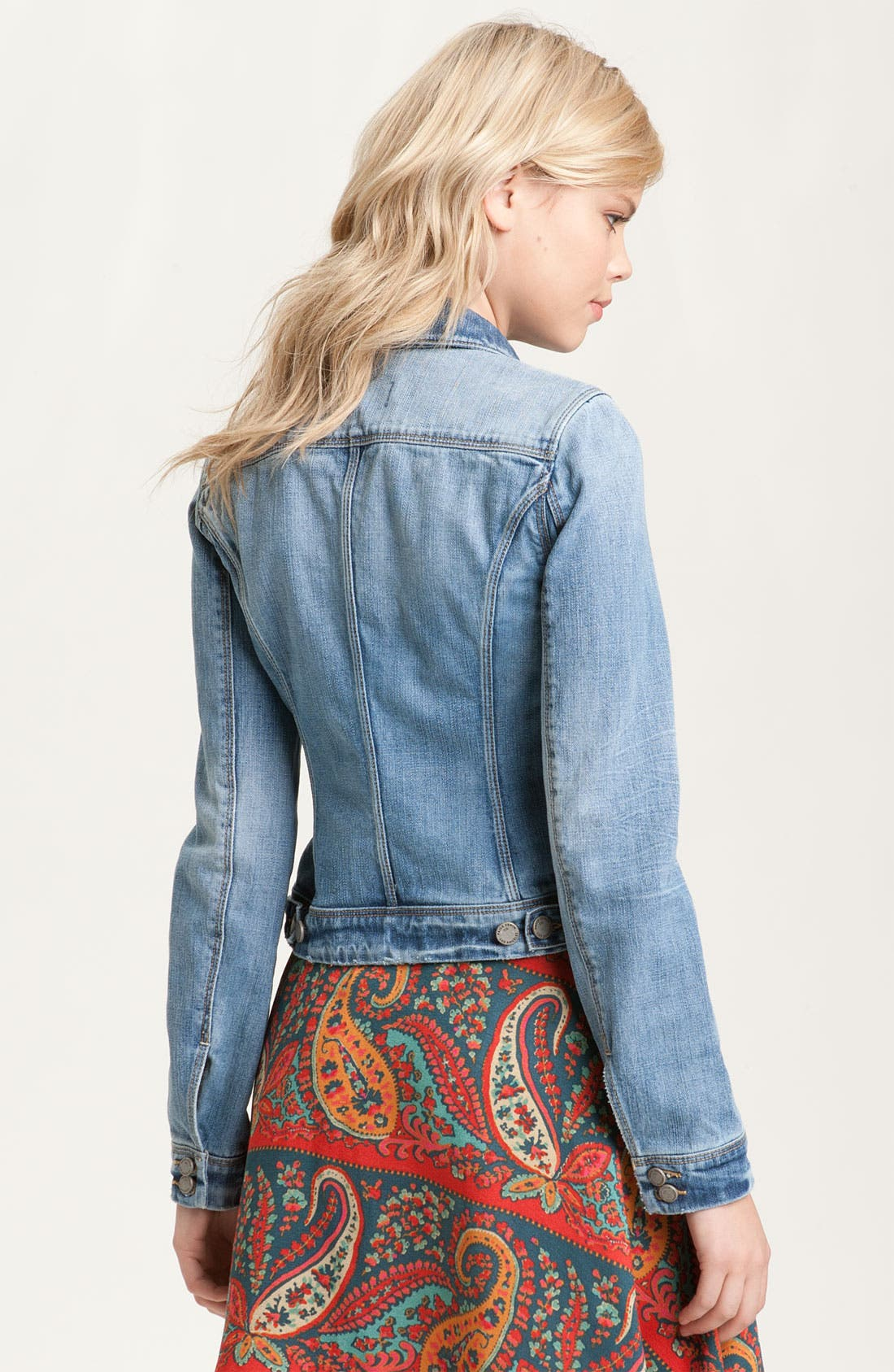 Alternate Image 2  - Paige Denim 'Vermont' Distressed Denim Jacket