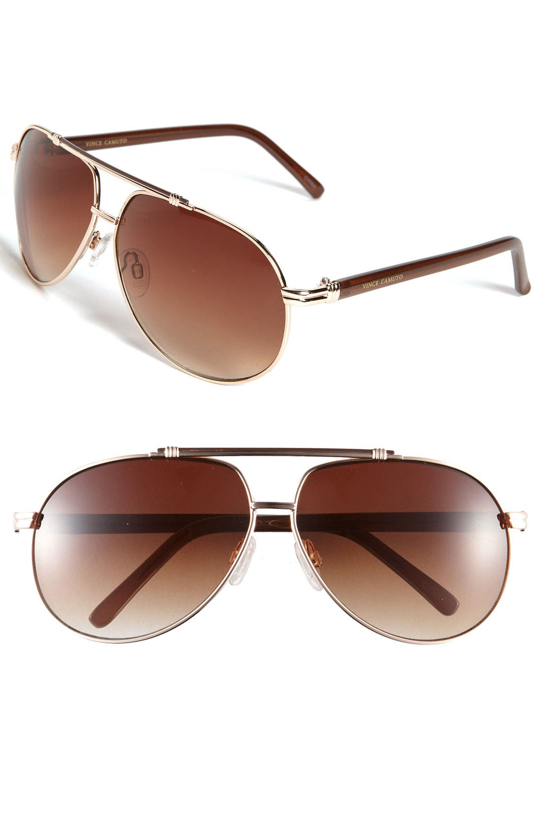 Main Image - Vince Camuto 62mm Metal Aviator Sunglasses