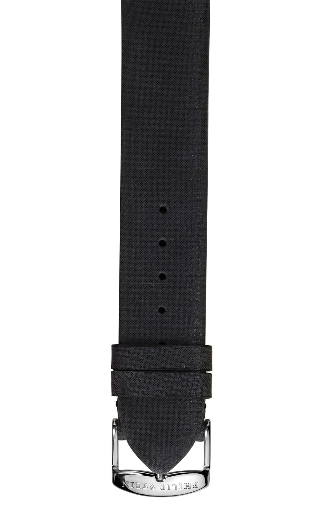 Alternate Image 1 Selected - Philip Stein® 18mm Metallic Calfskin Watch Strap