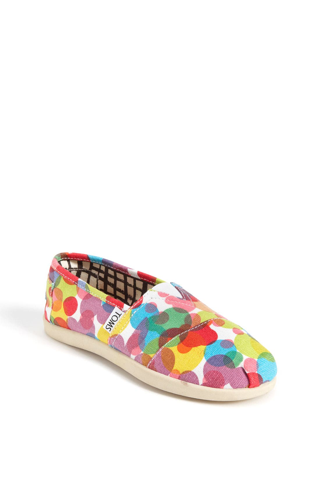 Main Image - TOMS 'Clea - Youth' Canvas Slip-On (Toddler, Little Kid & Big Kid)