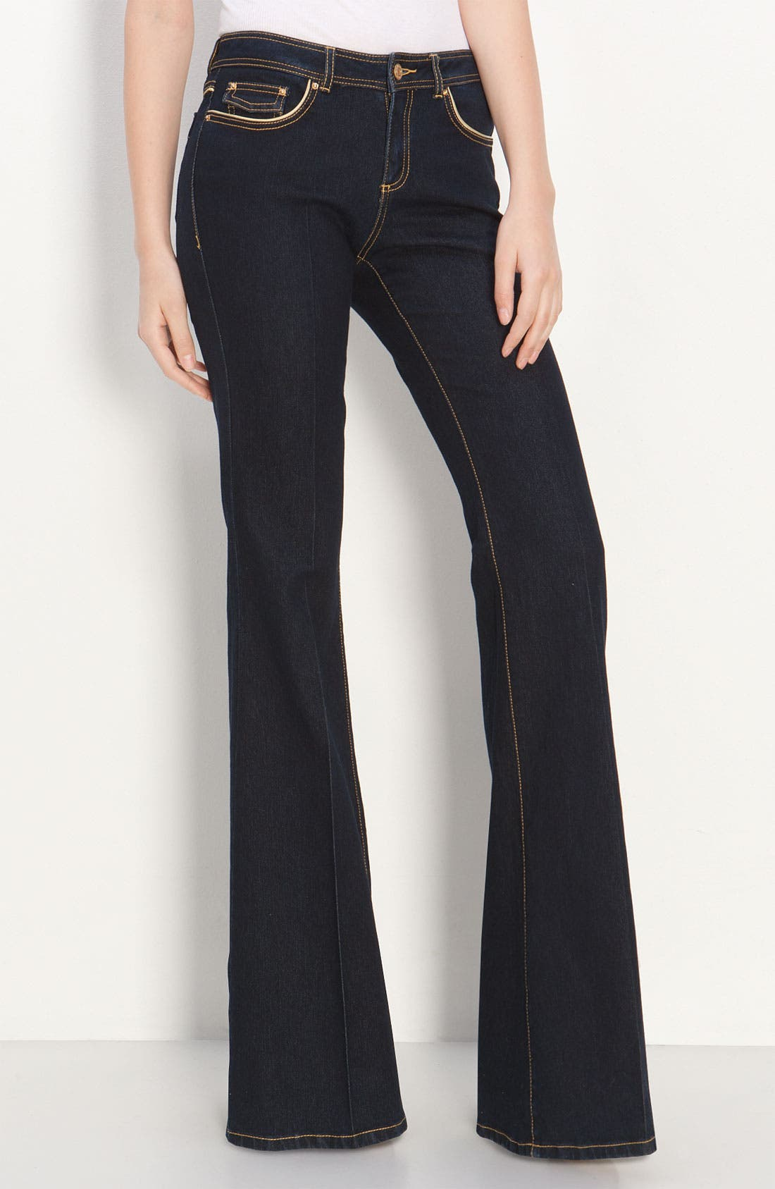 Alternate Image 2  - Rachel Zoe Piped Flare Leg Jeans (Long)