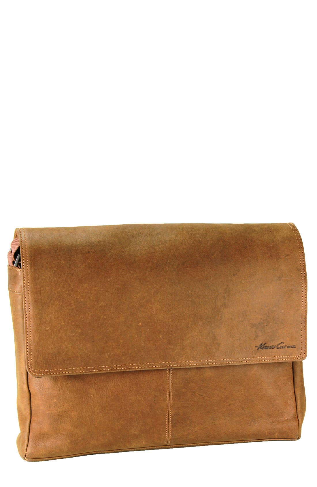 Alternate Image 1 Selected - Kenneth Cole New York 'Thunder' Leather Messenger Bag