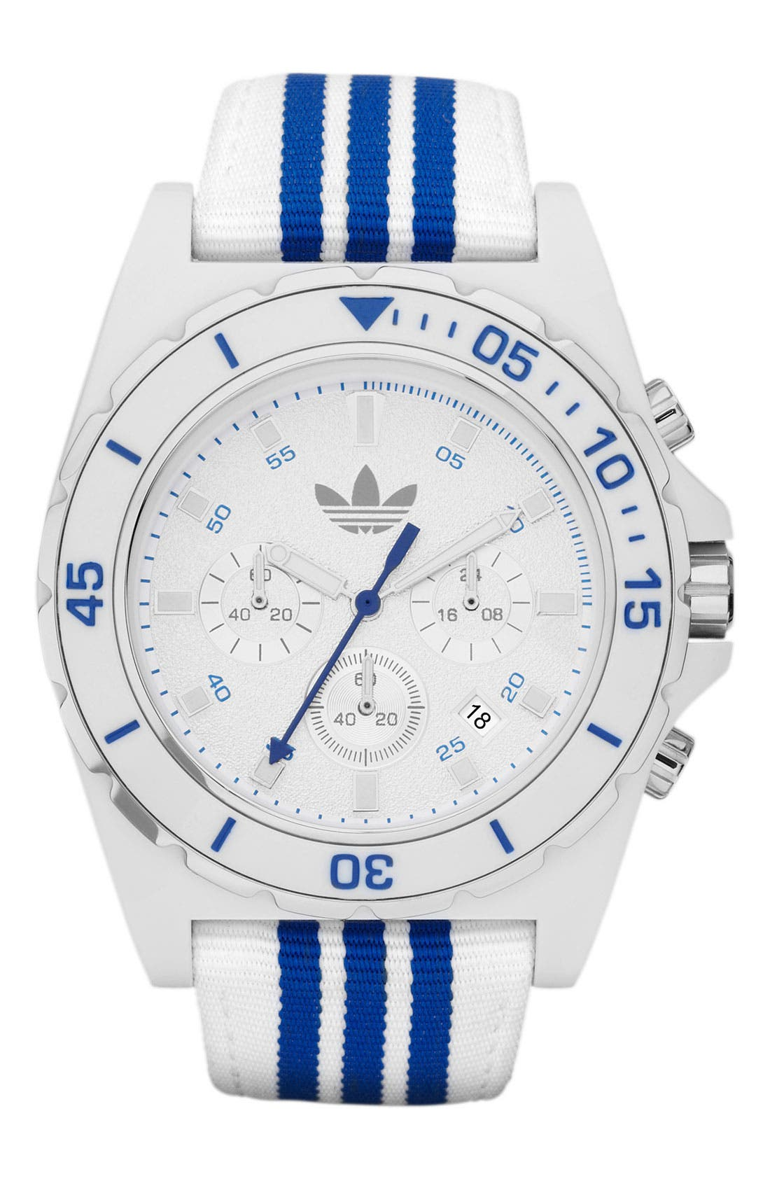 Main Image - adidas Originals 'Stockholm' Nylon Strap Watch, 44mm