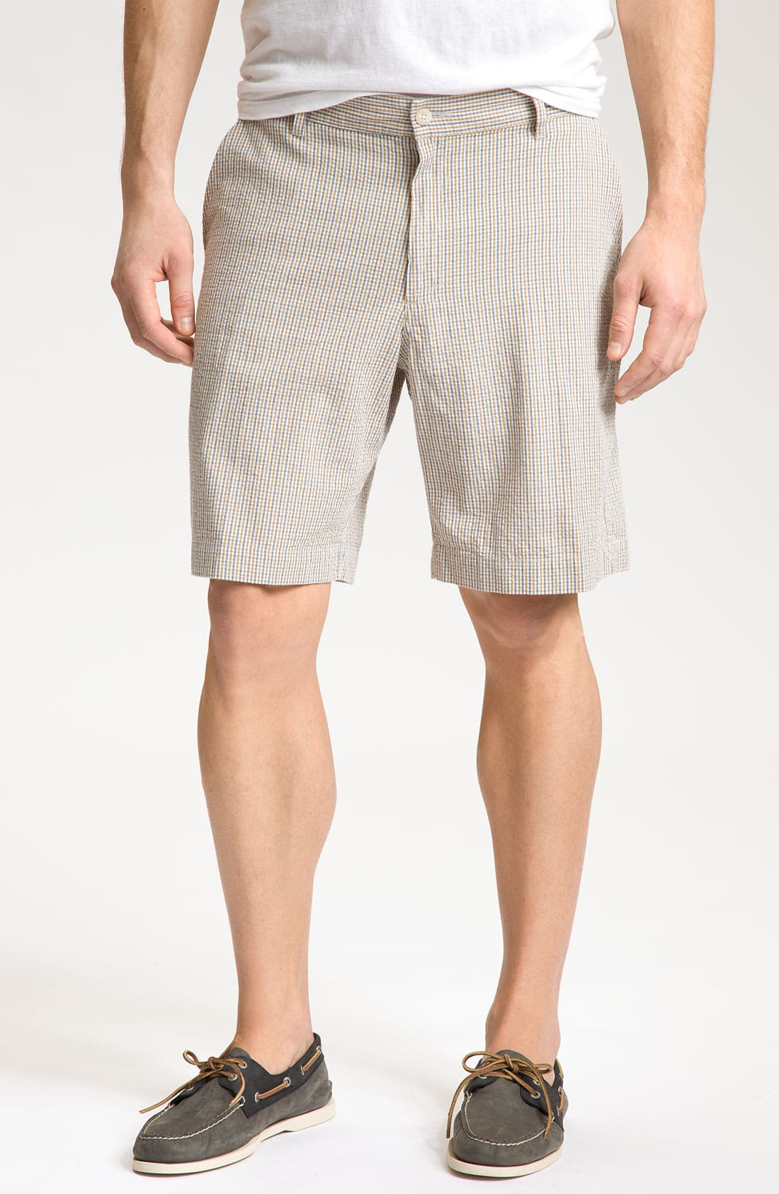 Alternate Image 1 Selected - Bill's Khakis 'Parker' Micro Check Shorts