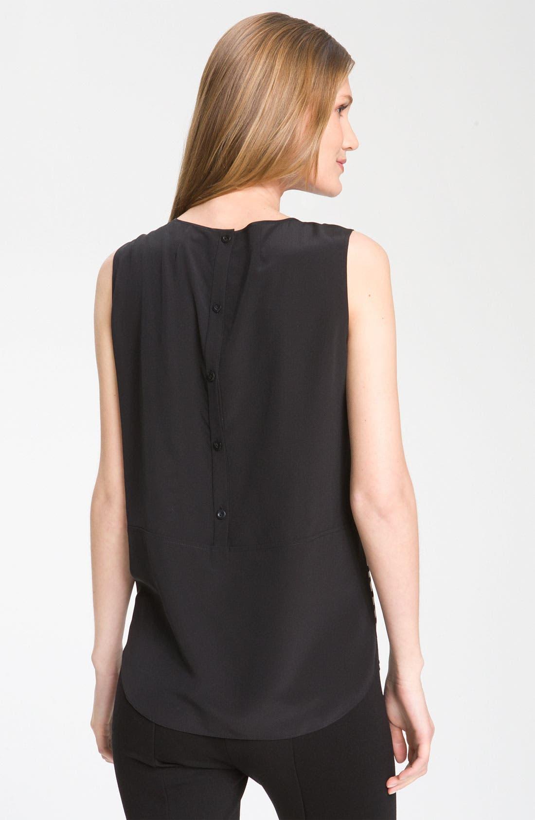 Alternate Image 2  - Nordstrom Collection Sleeveless Stripe Silk Blouse