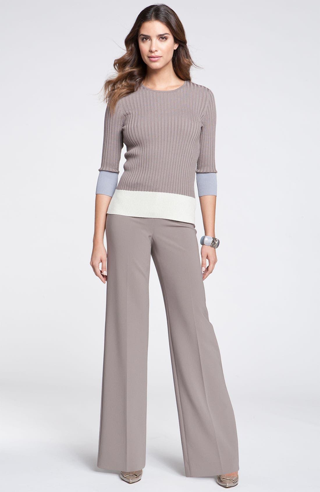 Alternate Image 3  - St. John Yellow Label Colorblock Rib Knit Sweater
