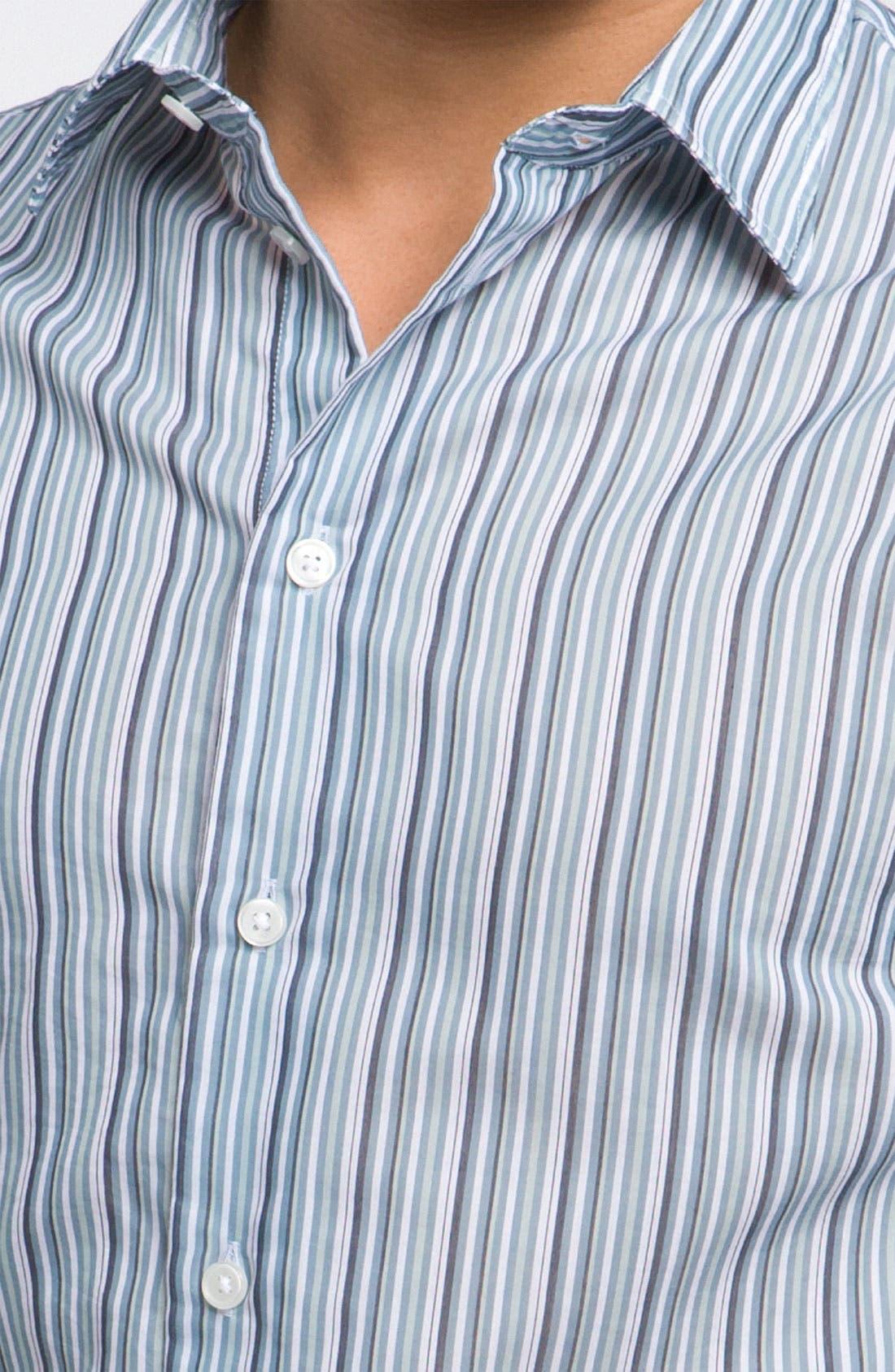 Alternate Image 3  - Armani Collezioni Stripe Woven Shirt