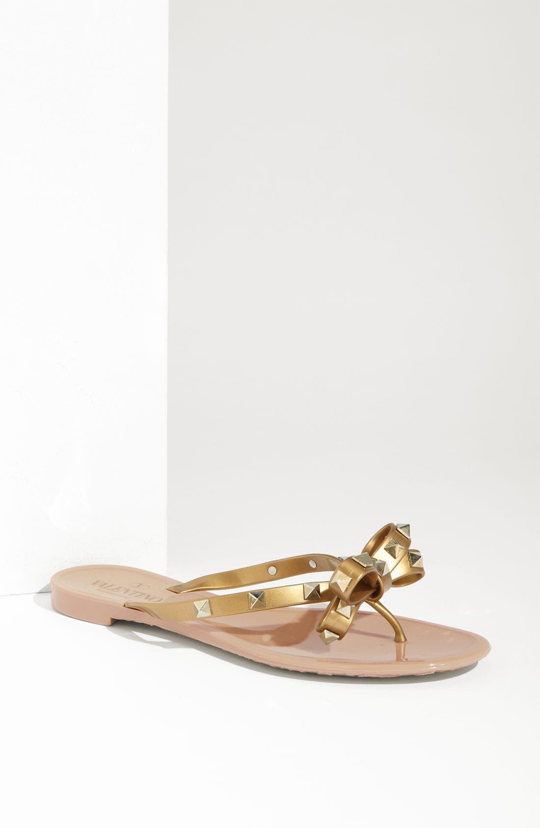 Alternate Image 1 Selected - VALENTINO GARAVANI 'Rockstud' Flip Flop (Women)
