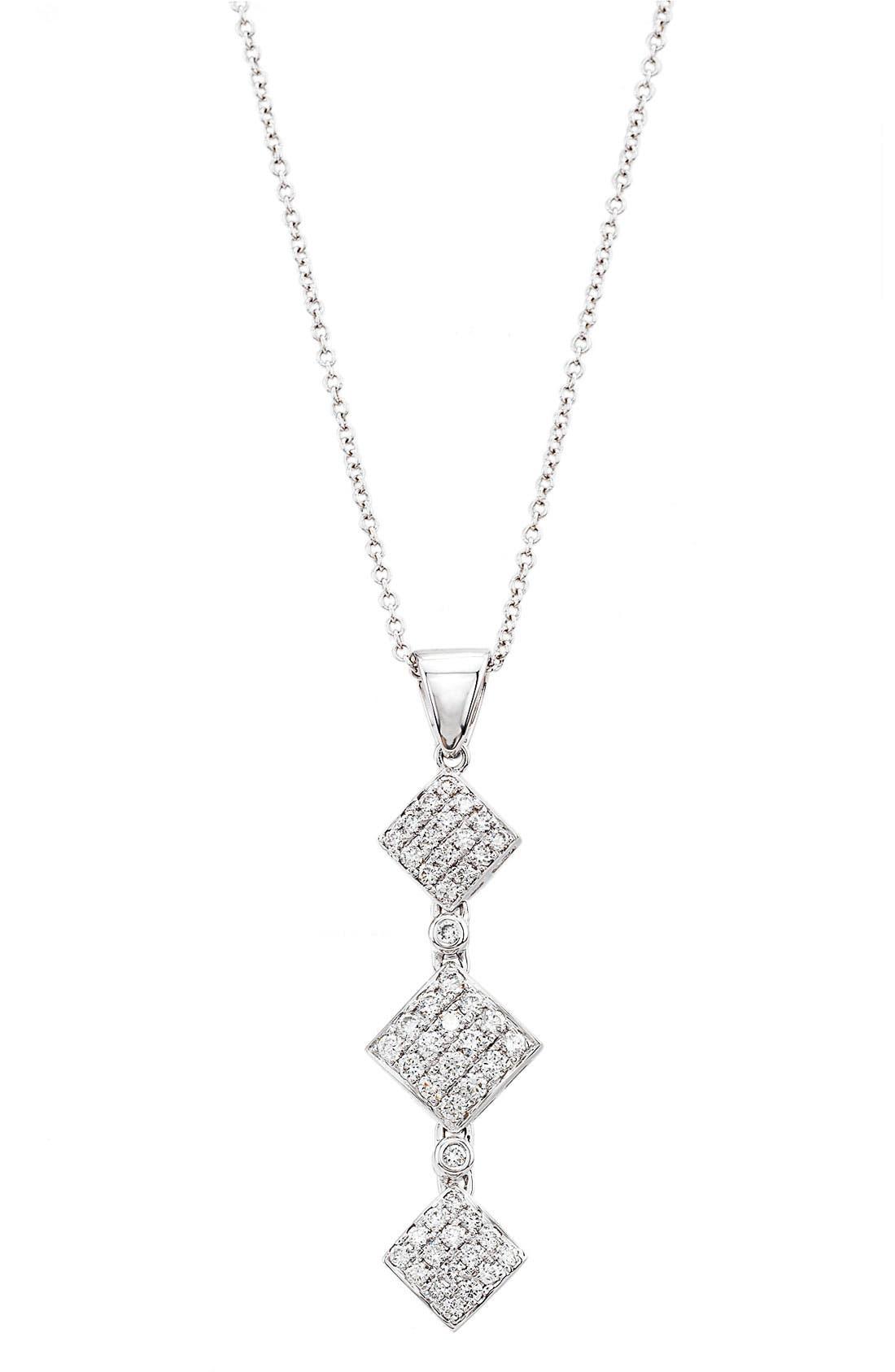 Main Image - Bony Levy Triple Drop Diamond Pendant Necklace (Nordstrom Exclusive)