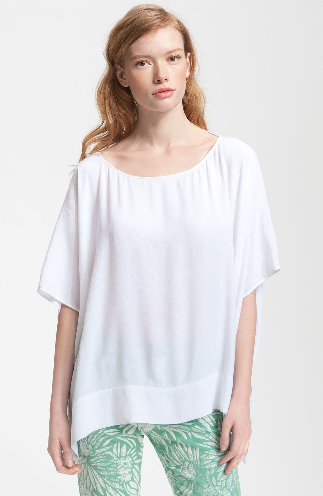 Alternate Image 1 Selected - Diane von Furstenberg 'New Hanky' Asymmetrical Hem Top
