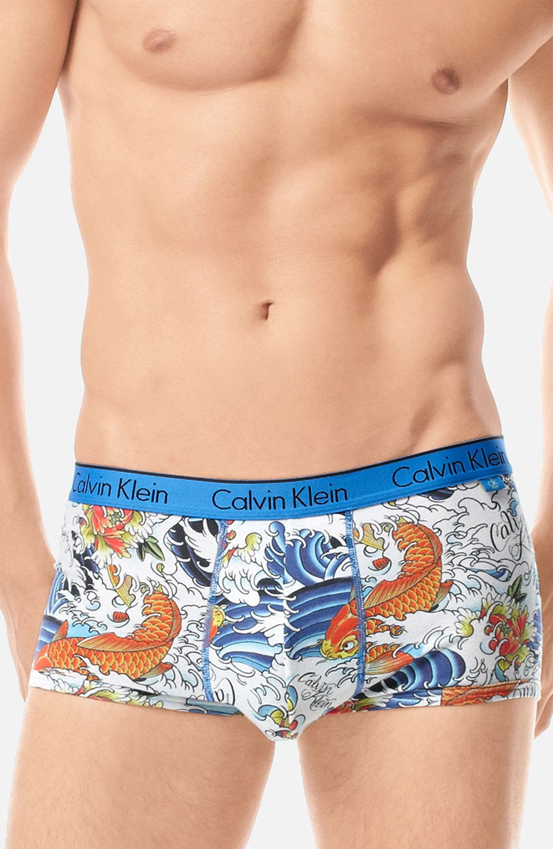 Main Image - Calvin Klein 'ck one - Tattoo' Low Rise Trunks