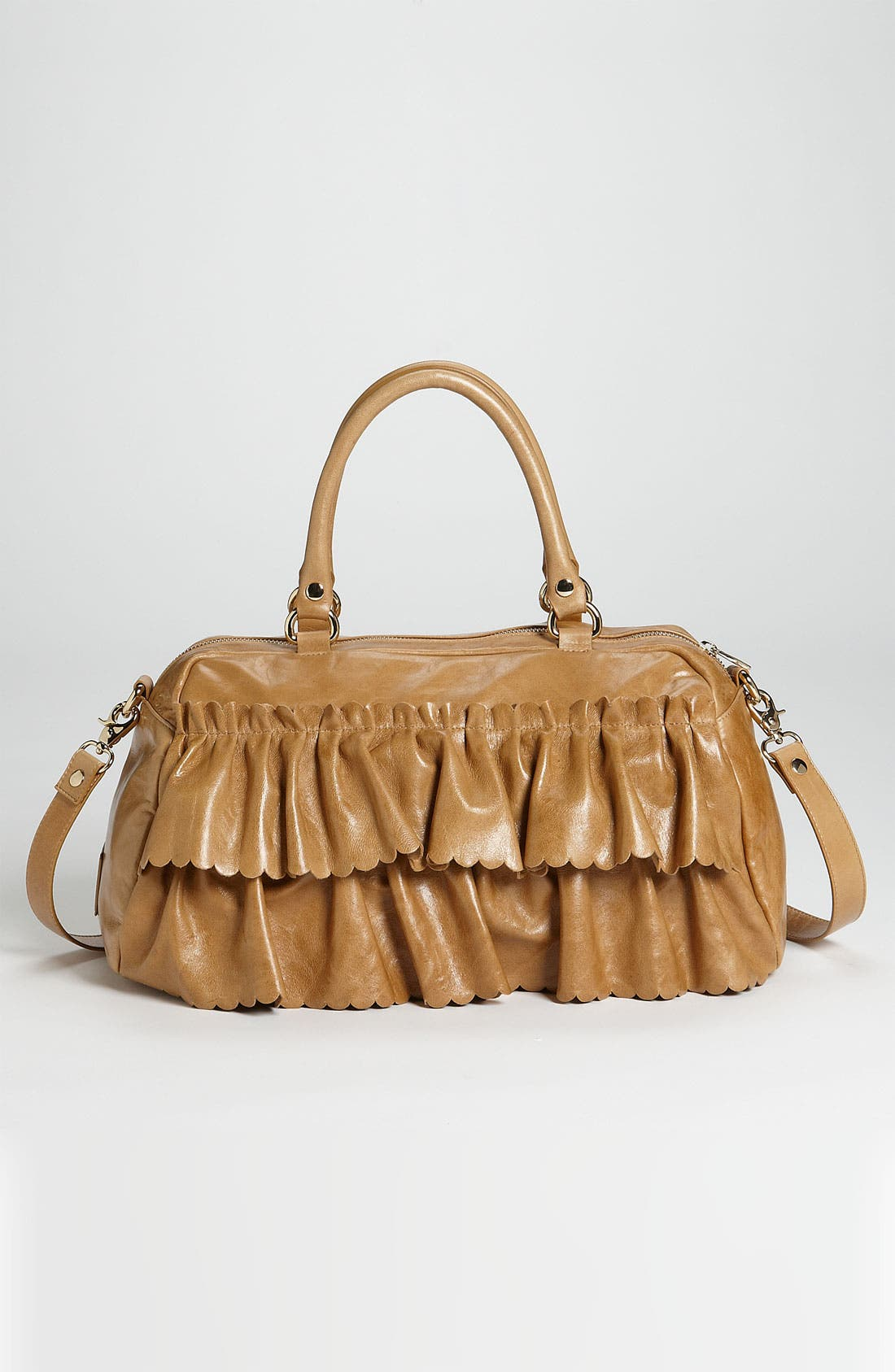 Alternate Image 4  - RED Valentino 'Vintage Ruffle' Lambskin Leather Satchel