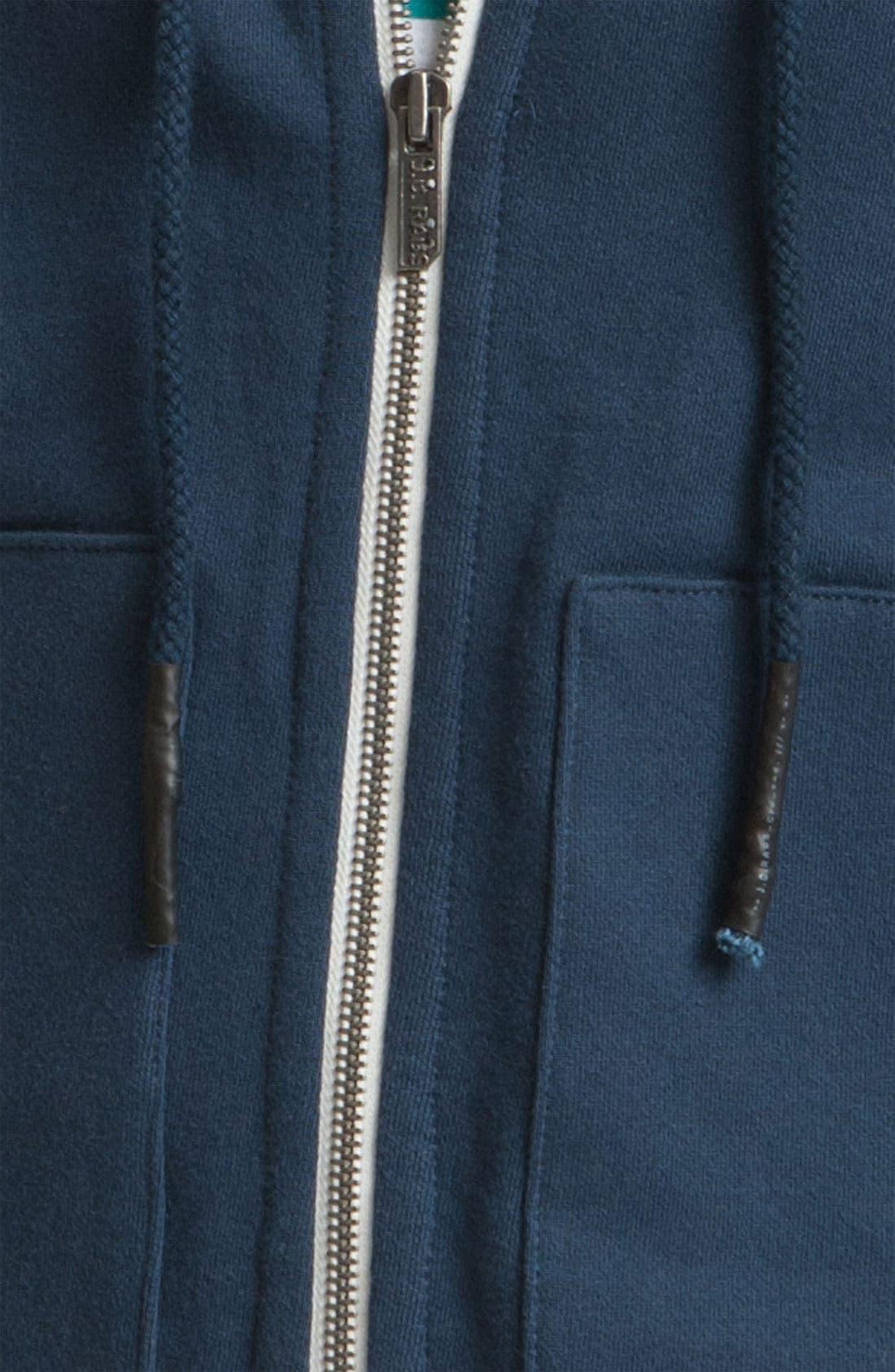 Alternate Image 3  - J.C. Rags Washed Zip Fleece Hoodie