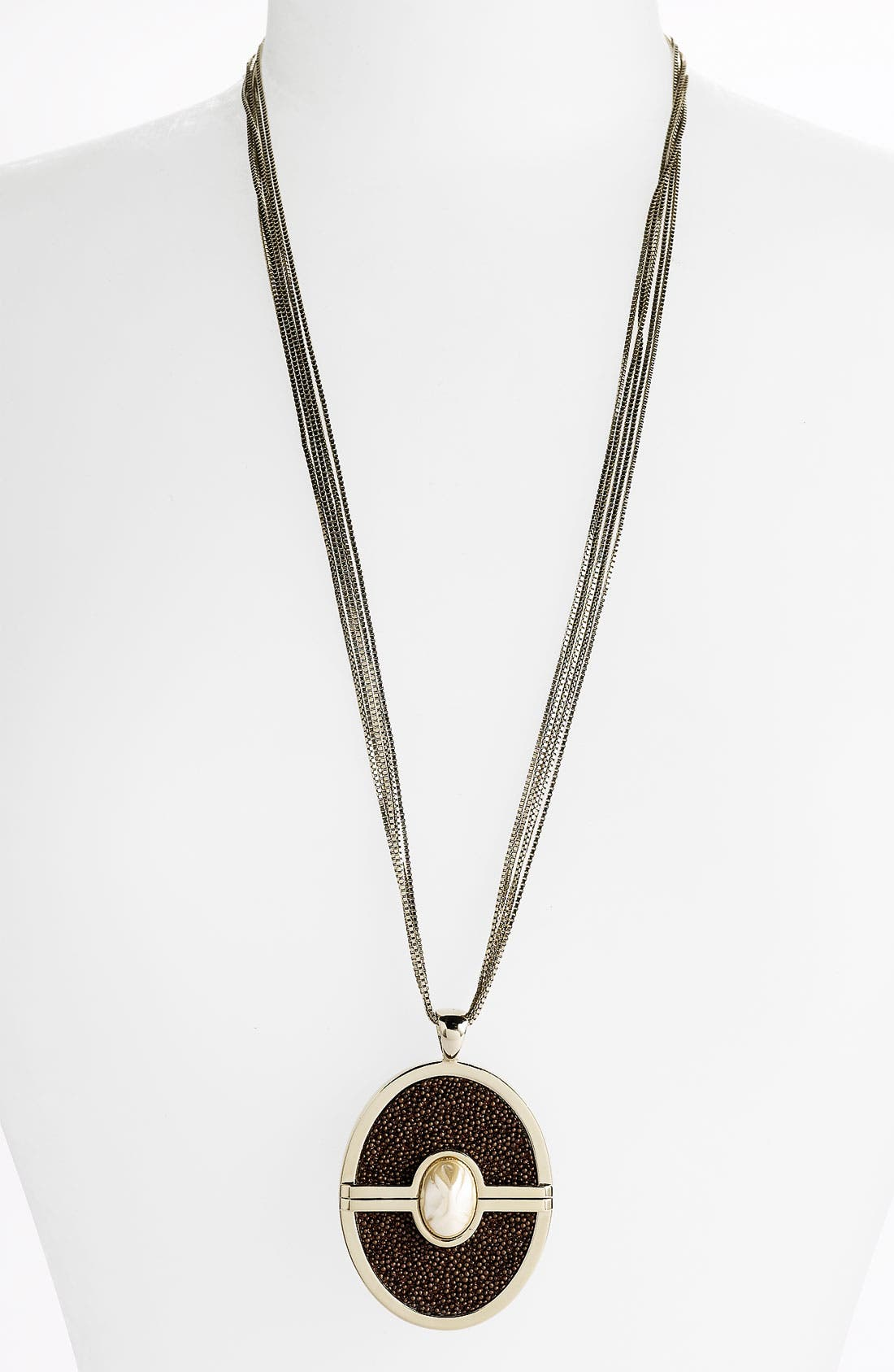 Alternate Image 1 Selected - St. John Collection Multi Chain Pendant Necklace