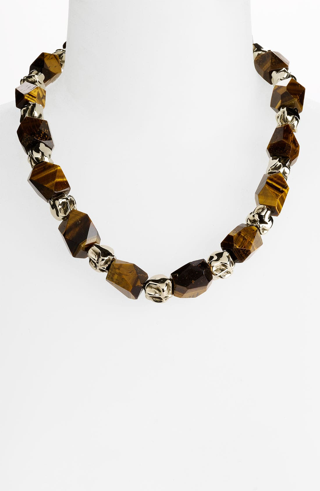 Main Image - St. John Collection Tiger's Eye & Metal Bead Necklace