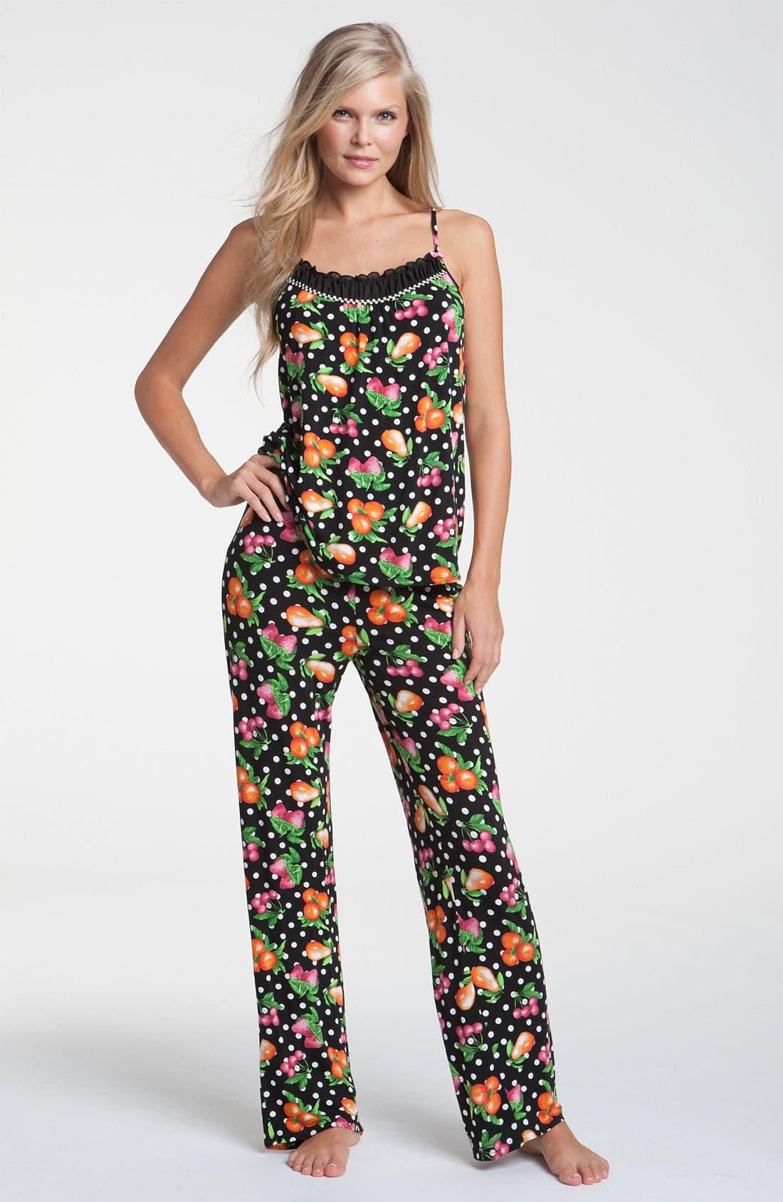 Alternate Image 1 Selected - Betsey Johnson 'Luscious Lite' Pajamas