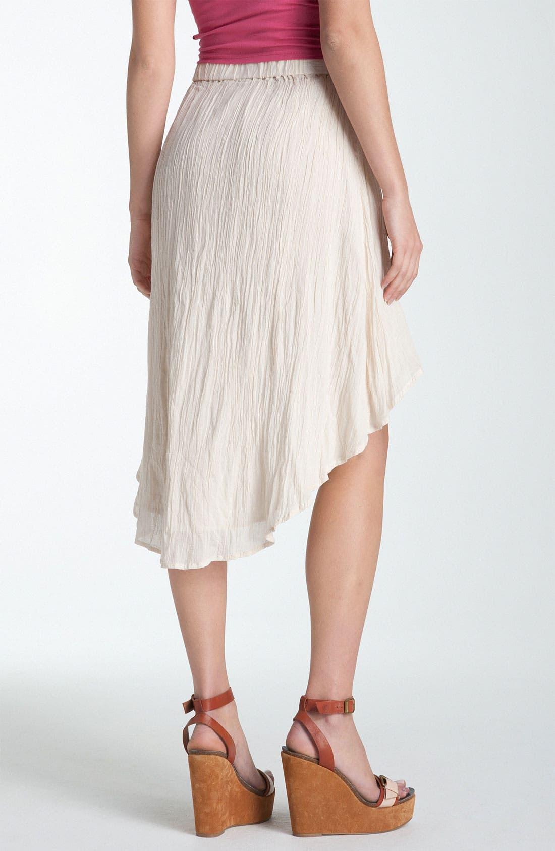 Alternate Image 2  - Rubbish® Asymmetrical Hem Gauze Skirt (Juniors)