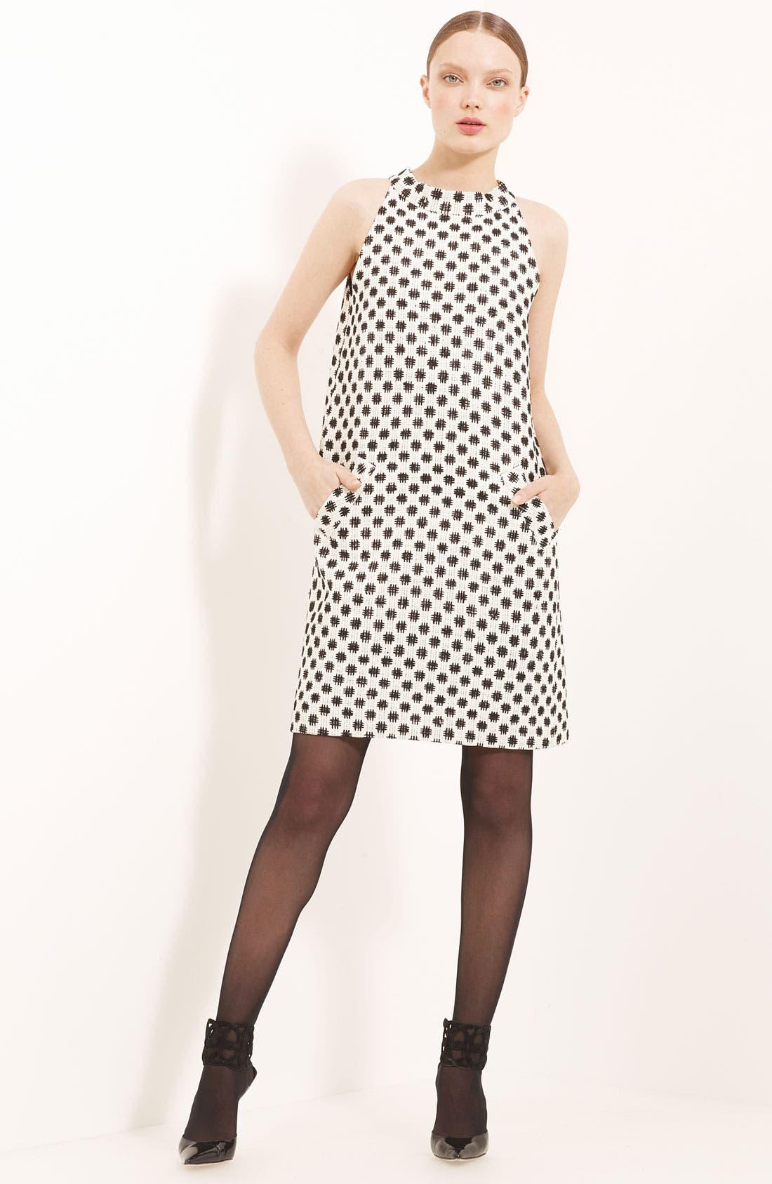 Alternate Image 1 Selected - Oscar de la Renta Trapeze Silk Tweed Dress