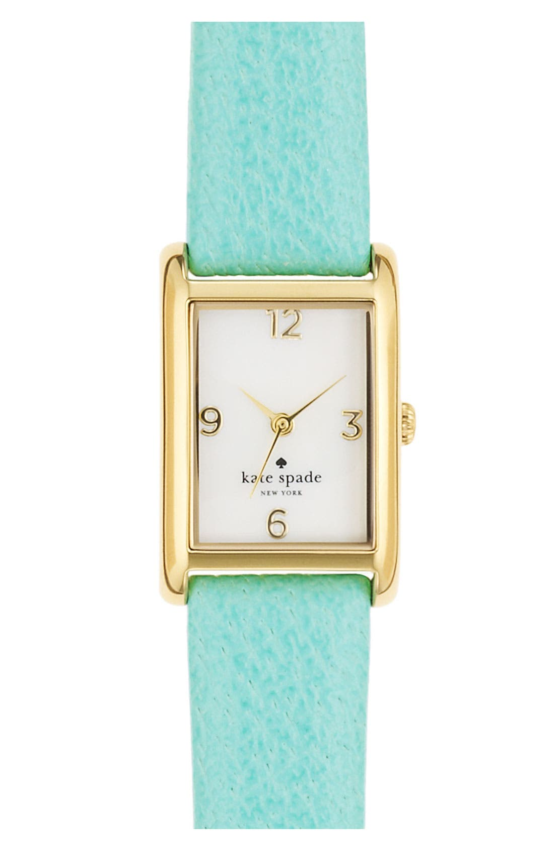 Main Image - kate spade new york 'cooper' leather strap watch, 21mm x 32mm
