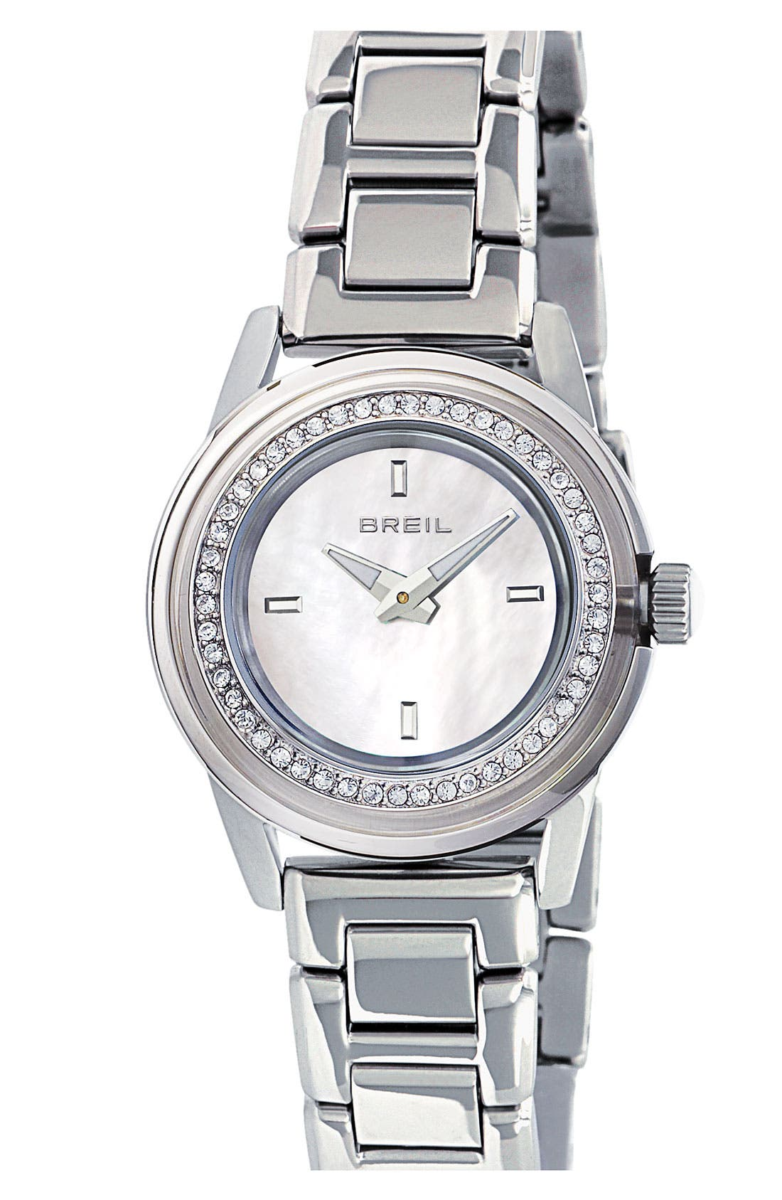Alternate Image 1 Selected - Breil 'Orchestra' Crystal Bezel Bracelet Watch. 28mm