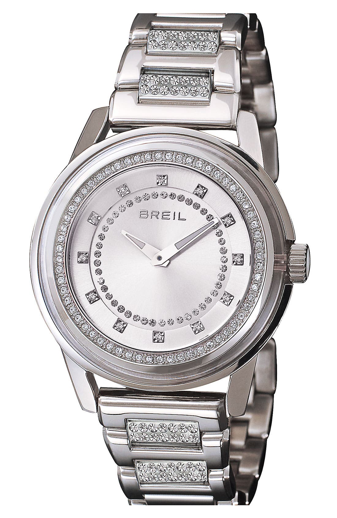 Alternate Image 1 Selected - Breil 'Orchestra' Round Crystal Bracelet Watch, 40mm