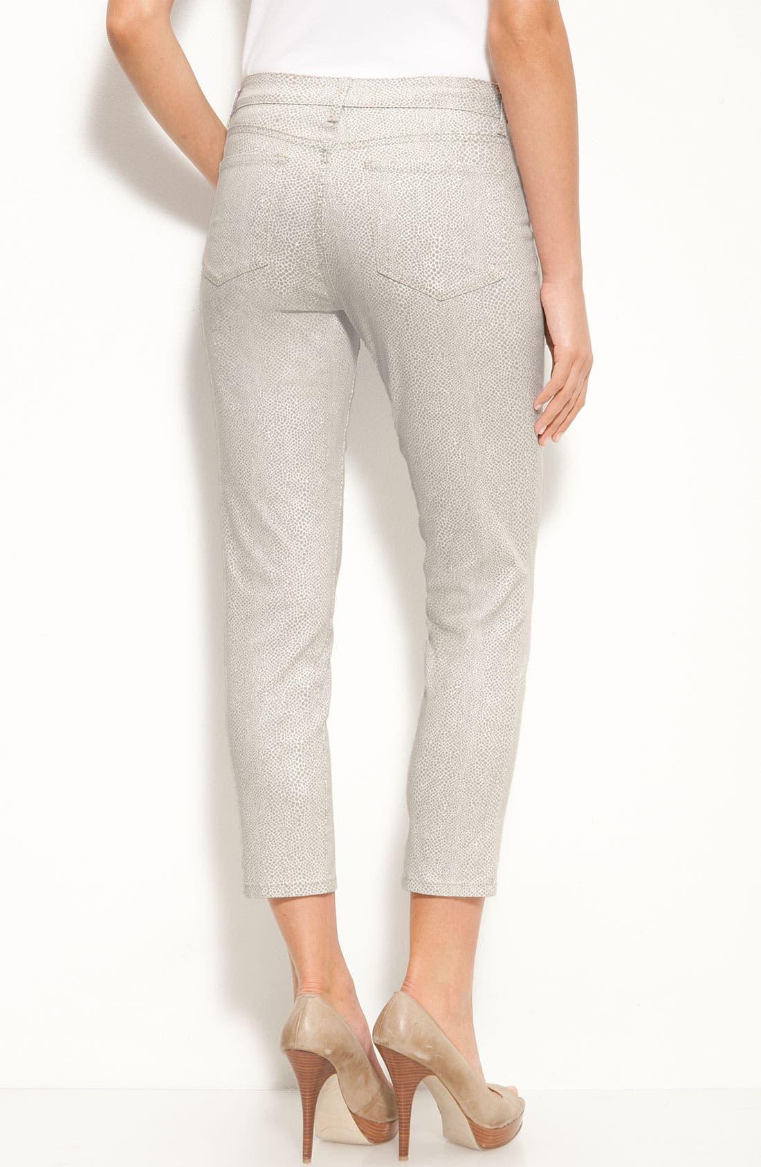 Alternate Image 2  - NYDJ 'Alisha' Print Skinny Stretch Jeans (Petite)