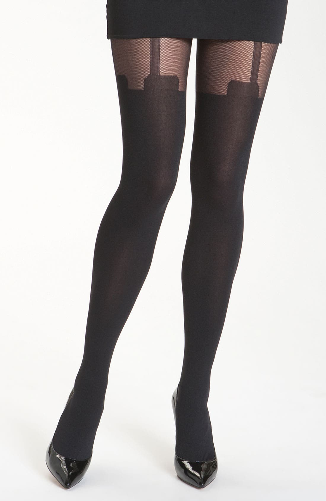 Main Image - Pretty Polly 'House of Holland Mesh Super Suspender' Tights