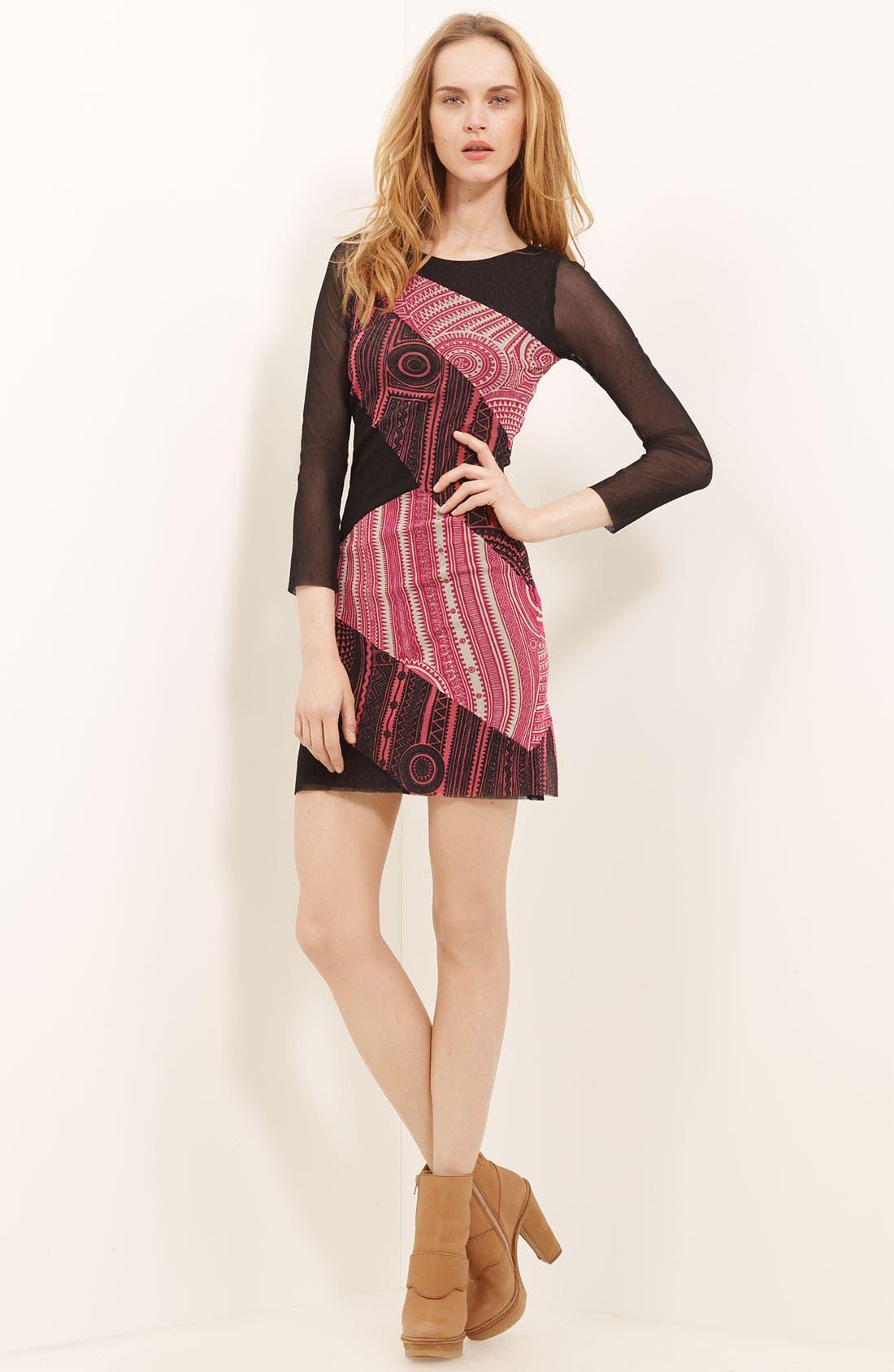 Main Image - Jean Paul Gaultier Fuzzi Patchwork Print Minidress
