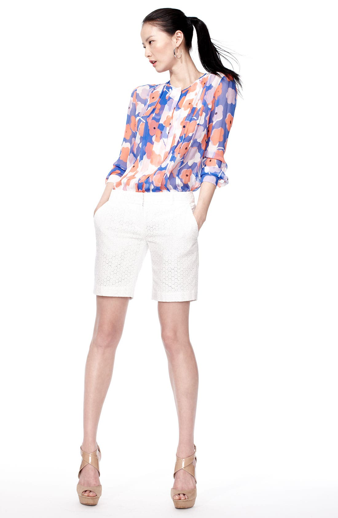 Alternate Image 1 Selected - Diane von Furstenberg Blouse & Shorts