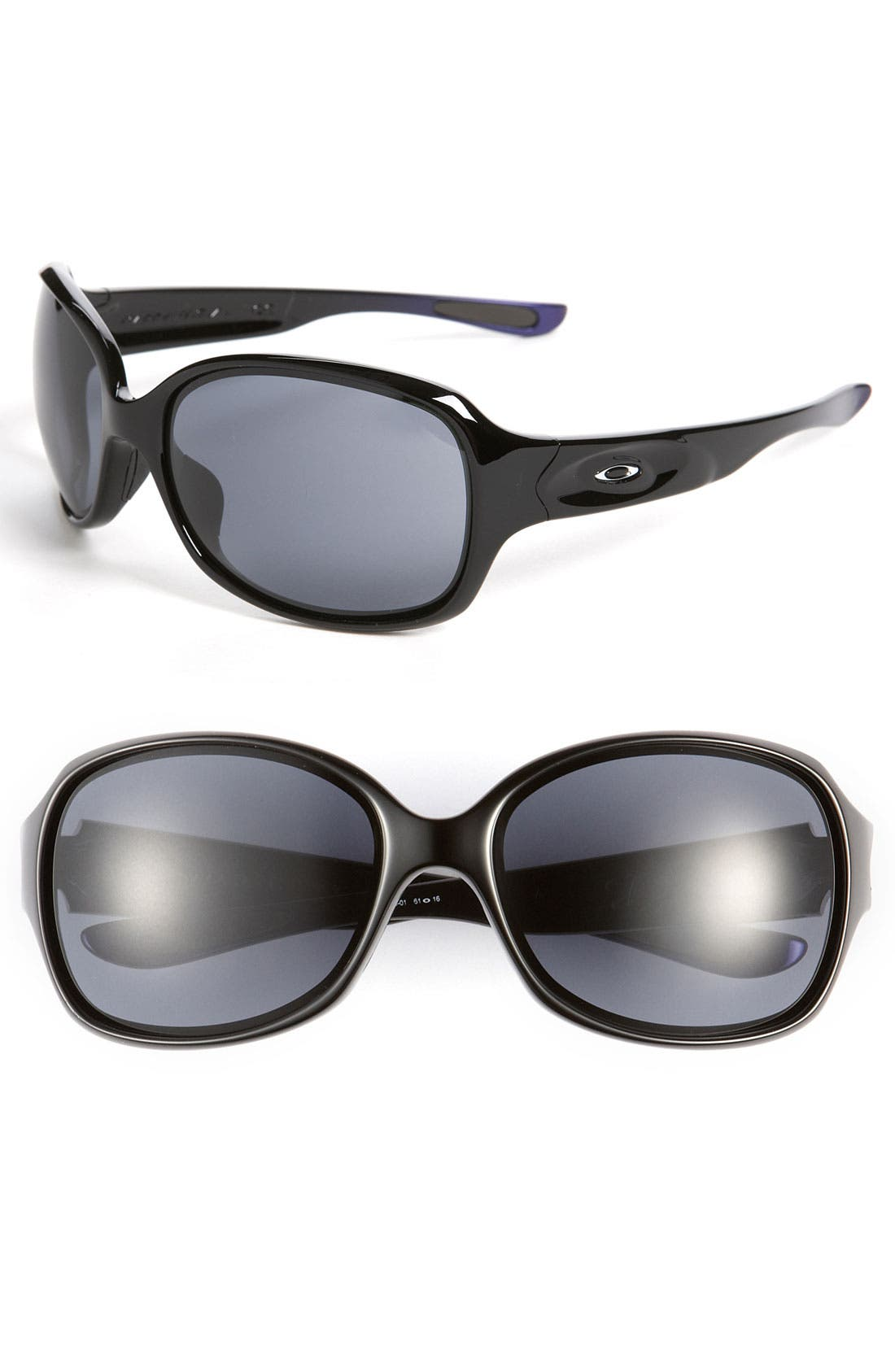 Alternate Image 1 Selected - Oakley 'Drizzle™' Metallic Temple Polarized Sunglasses