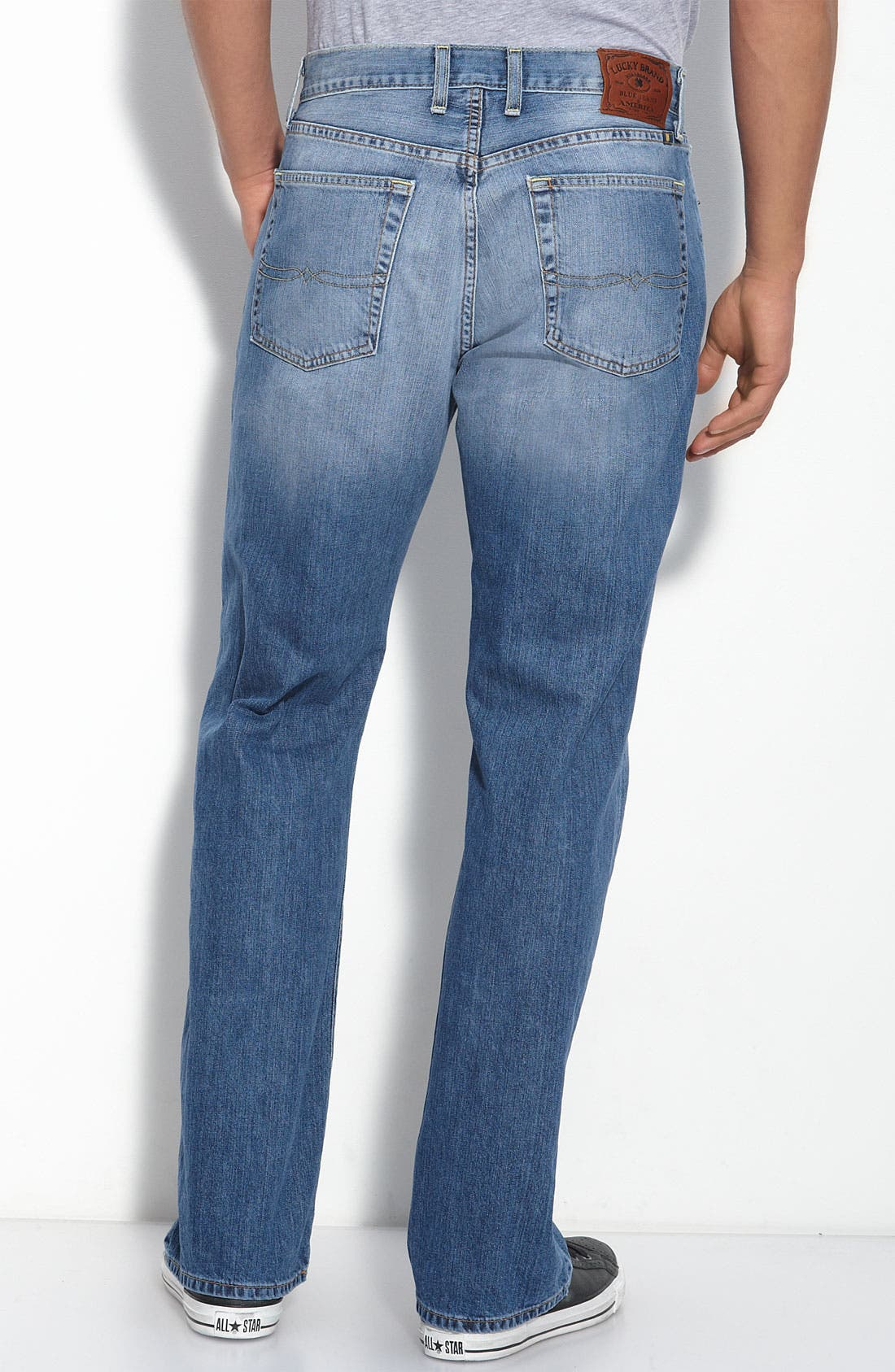 Alternate Image 2  - Lucky Brand Straight Leg Jeans (Ol' Summer Camp)(Big & Tall) (Online Only)
