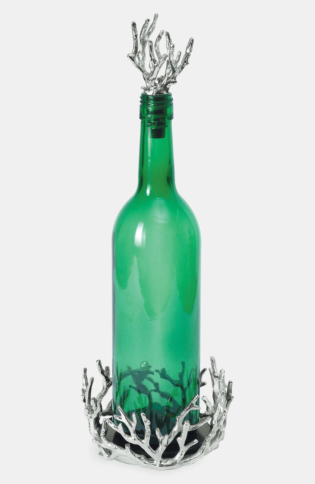 Main Image - Michael Aram 'Ocean Coral' Wine Coaster & Stopper