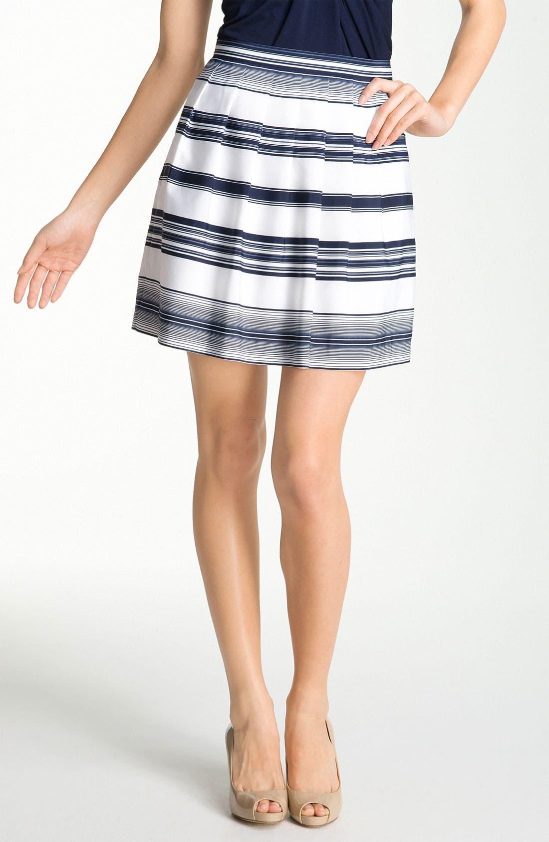 Main Image - Vince Camuto 'Caribbean Stripe' Skirt (Petite)
