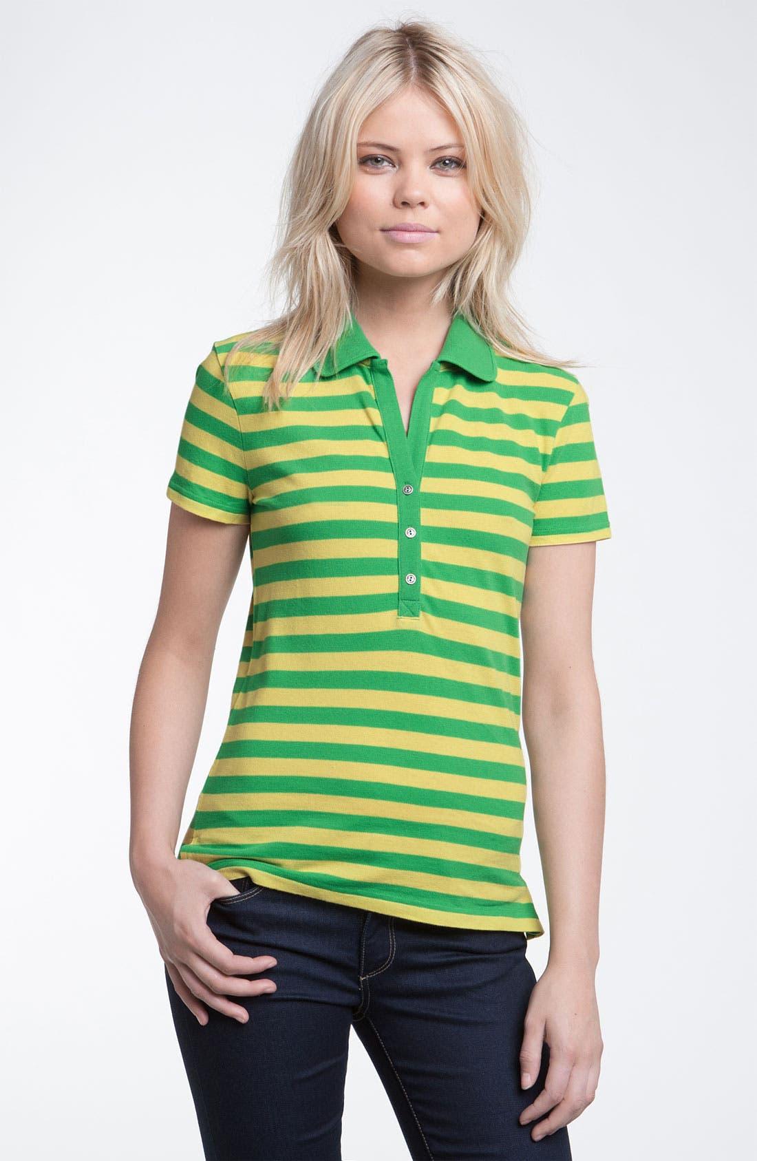 Alternate Image 1 Selected - Stem Stripe Organic Cotton Polo