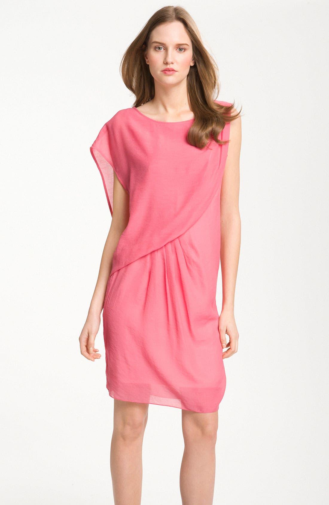 Alternate Image 1 Selected - Maggy London One Shoulder Gauze Shift Dress