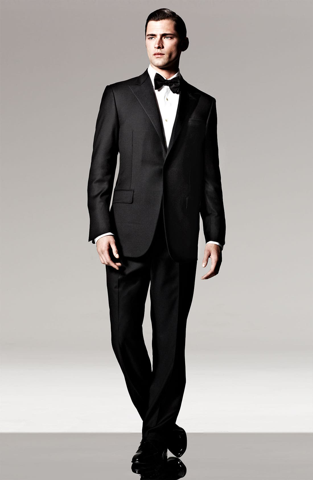 Alternate Image 4  - David Donahue Regular Fit Bib Front French Cuff Tuxedo Shirt