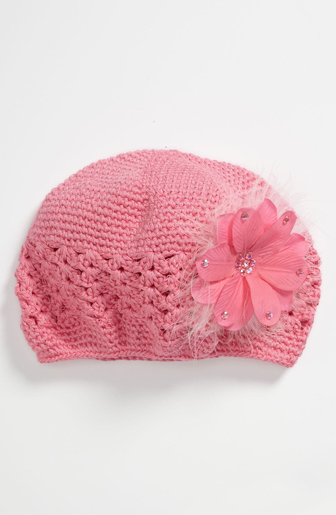 Main Image - PLH Bows & Laces Crochet Hat (Toddler)