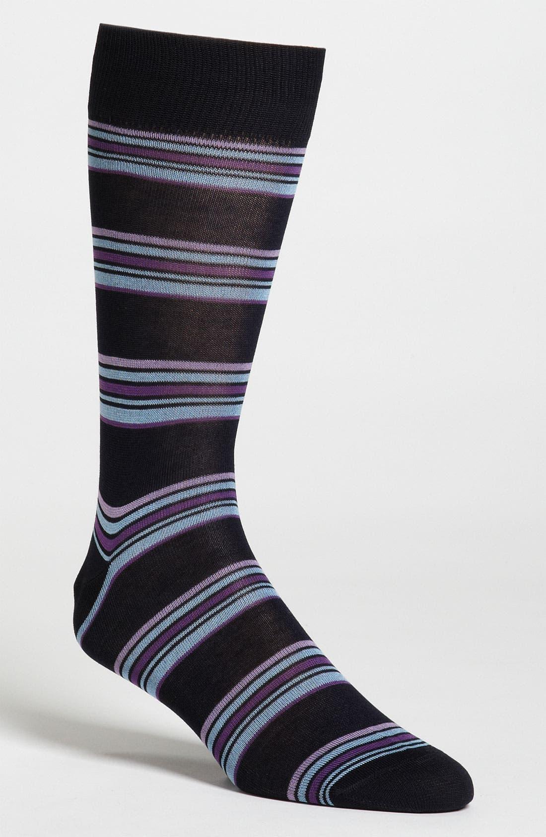 Alternate Image 1 Selected - Lorenzo Uomo Stripe Socks
