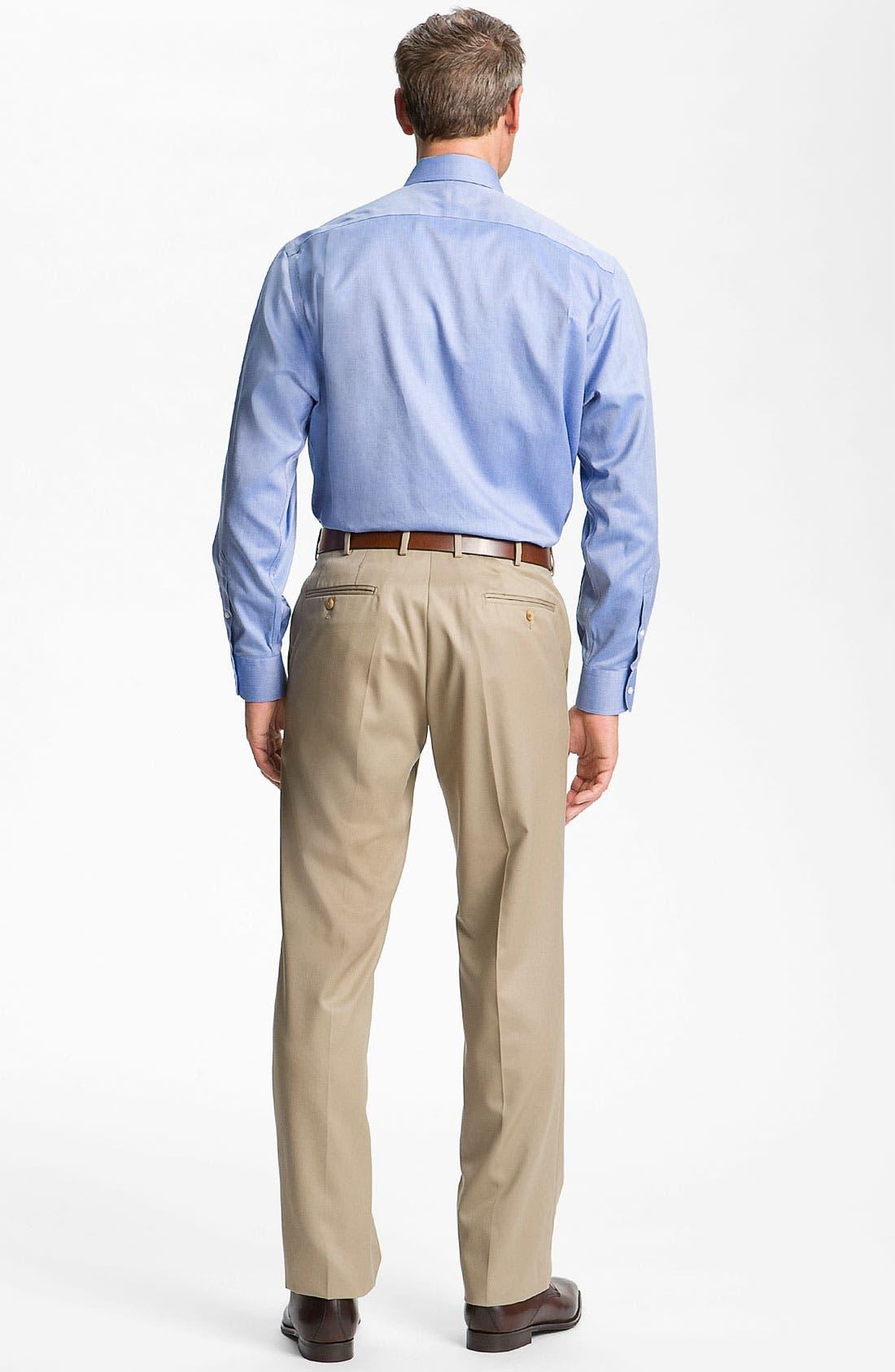 Alternate Image 6  - Nordstrom Men's Shop Smartcare™ Wrinkle Free Traditional Fit Herringbone Dress Shirt