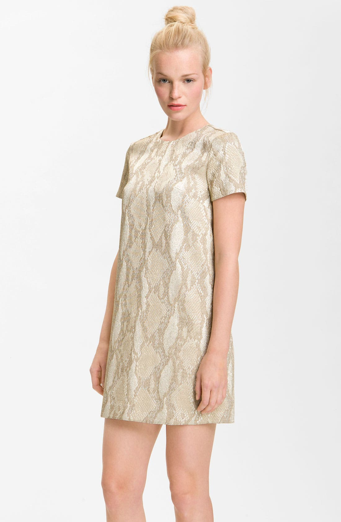 Main Image - French Connection 'Fast Metal' Print Shift Dress