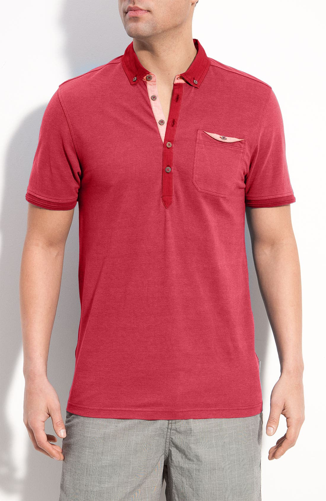 Alternate Image 1 Selected - Ted Baker London Trim Fit Polo